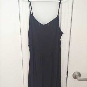 H&M Fit and Flare Cut Out Black dress